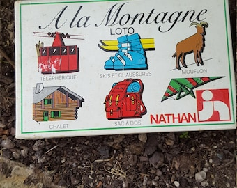 French Childs Game / Vintage Game / French Bingo / The Mountain Game / French Bingo / 1980's Game / French Retro Game