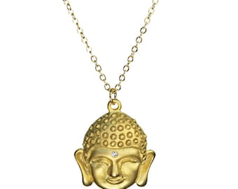 Sparkle Buddha Gold Necklace