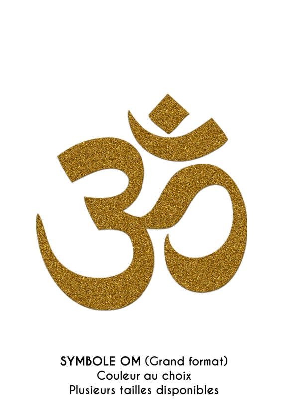 Large Om Symbol In Flex Fusible Size And Color Choice