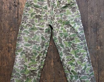 1960s camouflage army pants