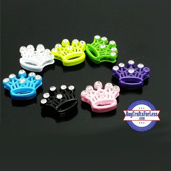 CROWNS for SLIDE Bracelets, Pet Collars, Key Rings, Napkin Rings, 7 Colors +FREE ShiPPing & Discounts*