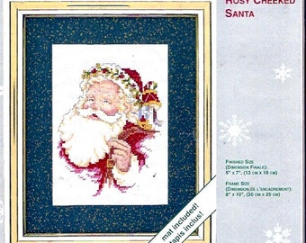 Weekenders Christmas Kit Rosy Cheeked Santa counted cross stitch Holiday St Nick Xmas Decor DIY kit project No 03306