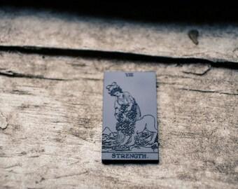 Strength Tarot - Black Acrylic