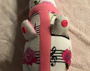 Music and Roses Baby Pillow Snake
