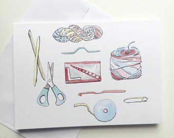 Fiber Supplies , 5x7 card, Ready to Ship, Happy hooker