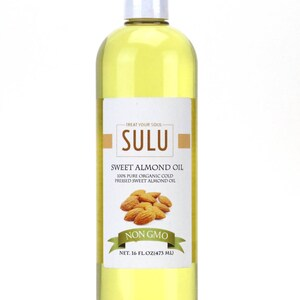 100% Pure Sweet Almond oil organic high quality Fresh Unrefined Virgin Sweet Almond oil from 4 oz up to 7 lbs