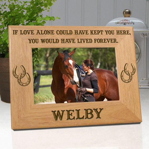 LOW COST SHIPPING Horse Memorial Frame If Love Alone