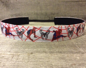Spiderman Nonslip Headband, Noslip Headband, Workout Headband, Sports Headband, Running Headband, Athletic Headband