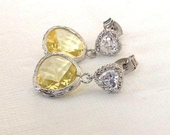 Yellow earrings, studs earrings, drop earrings, mom earrings, Wedding yellow earrings, Yellow bridesmaids Earrings, Valentines day