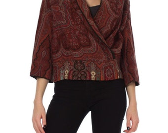 Vintage Victorian Paisley Shawl Made into a Jacket Size: XS/S/M