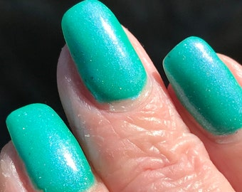Creamy Sea  aqua nail polish