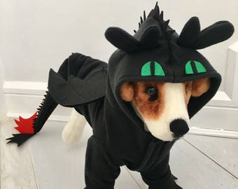Toothless dragon costume by FiercePetFashion