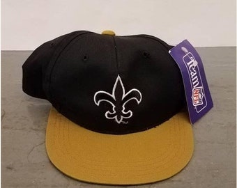 New Year SALE 15% Off NWT Vintage 90's New Orleans Saints Snapback Hat By AJD. Youth.