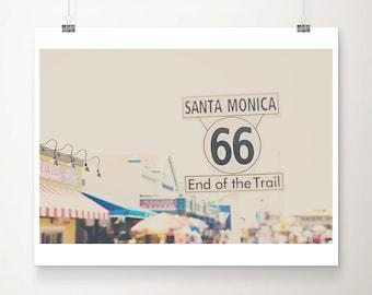 route 66 photograph santa monica pier photograph california photograph travel photography california print route 66 print