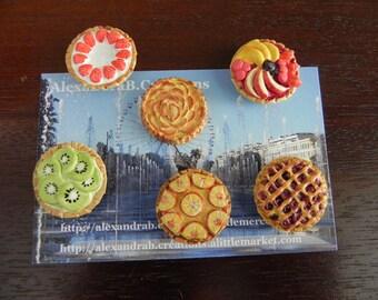 6 miniature fruit tart miniatures