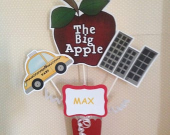 NYC, Big Apple, Taxi, Skyscaper City Party Centerpiece Decoration