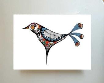Bird illustration- print 5- Glicee print, minimal bird print, bird print, wall art print, bird illustration, bird art, print, art, prints