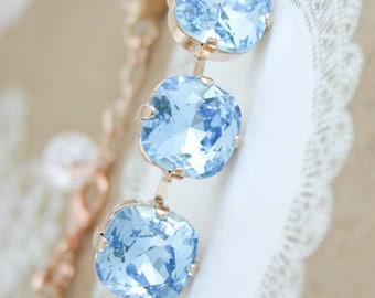 Aquamarine bracelet,aquamarine,march birthstone,Swarovski aquamarine,Swarovski,rose gold aquamarine bracelet,aquamarine wedding bracelet