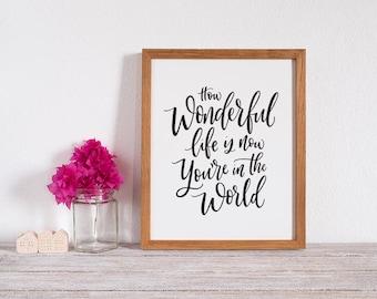 How Wonderful Life is Art Print