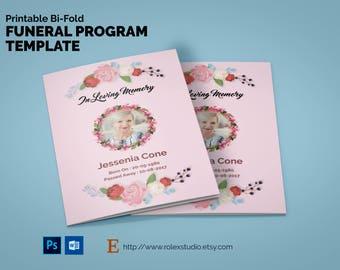 memorial pamphlet template
