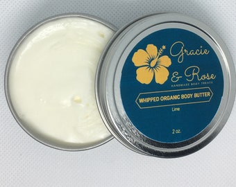 Whipped Organic Body Butter with Lime (2oz)