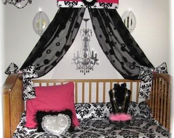 Incroyable Crib Canopy Crown Bed Damask Paris Bedroom Decor Cornice Girls Room Pelmet  SaLe So Zoey Boutique