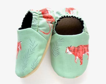 Tiger Baby Boy Shoes, Baby Booties, Non Slip Soles, Tigers for Baby Boy, Soft Shoes, Slip On Baby Shoes, Baby Boy Gift