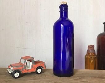 Vintage Blue Bottle ~ Vintage Cobalt Blue Bottle ~ Antique Bottles ~ Medicine Bottle ~ Vintage Blue Glass ~ French Country
