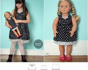 Verona Dress Dolly and Me PDF Pattern Bundle