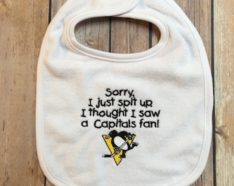 Sorry I just spit up. HOCKEY RIVAL Bib