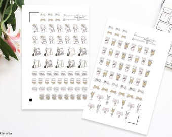 Icons Stickers | Planner Girl | Printable Planner Stickers