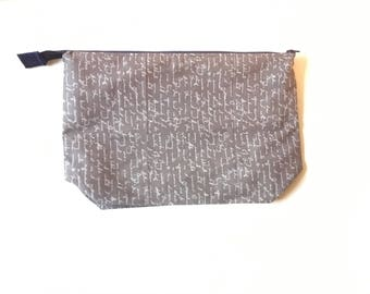 Project bag, knit bag, cosmetic bag,