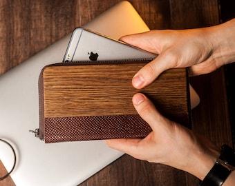 Leather wallet him,Minimalist Wallet,Men leather wallet,Men Wallets,Wooden gift men,iPhone wallet purse,Wood iPhone wallet,Wood card wallet,