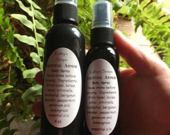All Natural Bug Spray, Insect Repellent, Mosquito Spray, Bugs Off, Body Spray - NO DEET Bug Spray, Bug Repellent, Mosquito Repellent