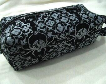 Metallic Black Widow Pencil Bag Craft Bag Cosmetic Bag Makeup Bag Shaving Kit LARGE