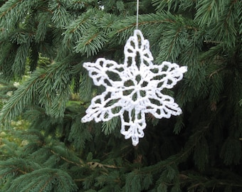 Christmas Snowflake, Crochet Snowflake, Winter & Christmas Decoration, Lace Snowflake, Winter Wedding, Hand Made by NormasTreasures