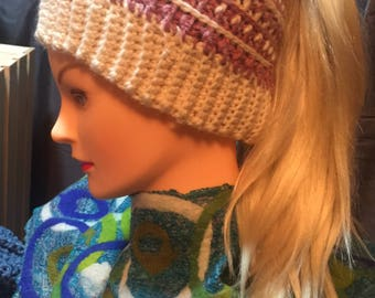 Women's Messy Bun Hat Beautifully Stitched