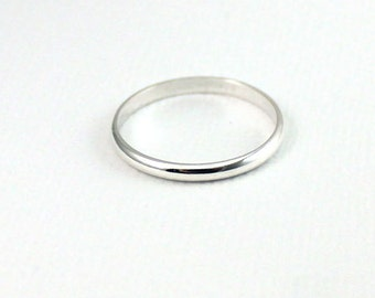 3pcs-Band Ring Plain Sterling Silver , 2mm Band Ring, Stackable Ring, Everyday Wear, Stacking Ring, Band Ring, Wedding Band,Simple .