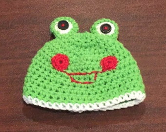 Crochet Baby Frog Hat-Frog Hat Infant-Frog Hat for Baby-Baby Frog-Newborn Photo Prop-Baby Frog Hat for Infant-Baby Boy Gift-Frog for Girl