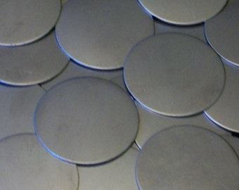 Nickel Silver Discs - 24 Gauge, stamping blanks, metal stamping blanks, Bopper, german silver, etching, embossing, disk, hand stamping blank