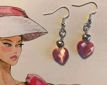 Pink Sweetheart Earrings