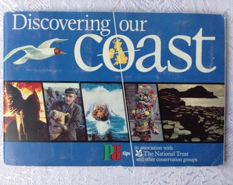 1989 Vintage Tea Card Album Discovering our Coast - Complete