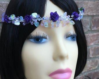 Swarovski Crystal Vine Headdress Headband. Wedding. Bride. Bridal. Prom.