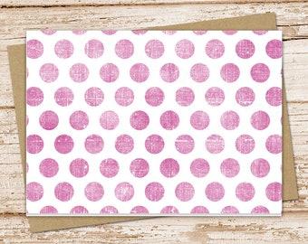 note card set . shabby polka dot notecards . blank cards . folded dots stationery . stationary . set of 6