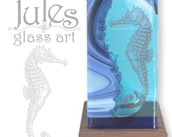 Sea Horse Glass Candle Holder