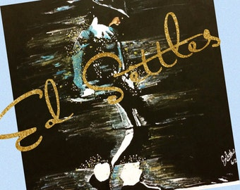 Michael Jackson Moonwalker Acrylic Artwork Original Signed Painting Art