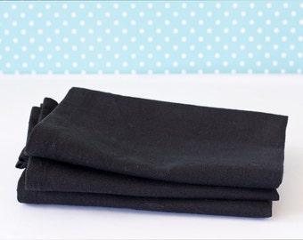 Black Hemp & Organic Cotton Napkins – Eco-friendly Table Linen - Hemp Table Linen
