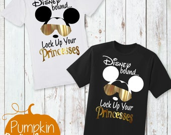 Disney Shirt/First Trip to Disney/Going To Disneyworld/Disney Bound Shirt/First Disney Trip Shirt/Lock Up Your Princesses