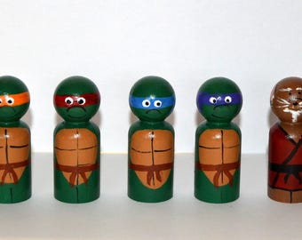Teenage Mutant Ninja Turtles Heroes Peg Doll Play Set