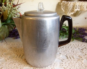 Vintage Aluminum Coffee Pot  B229